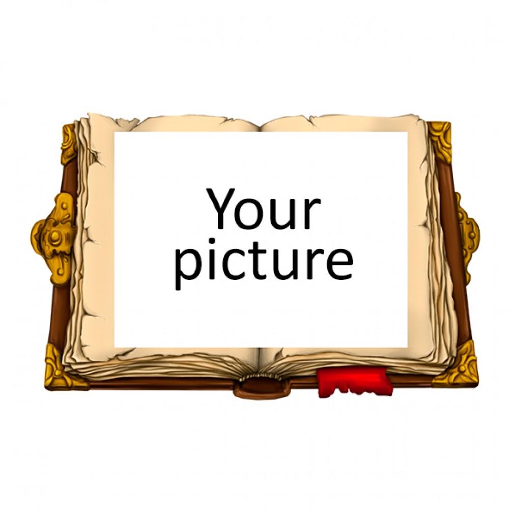 Деревянный магнит под полиграфическую вставку Книга