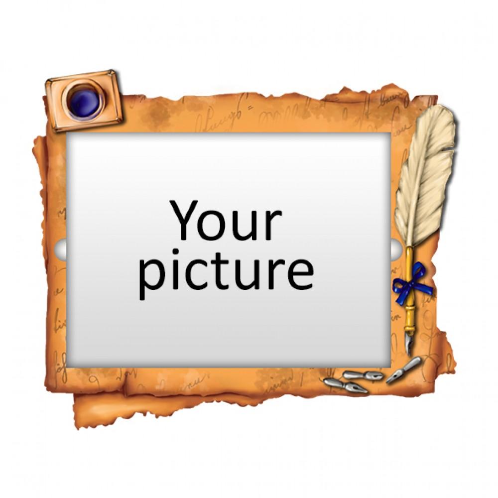 Деревянный магнит под полиграфическую вставку Чернильница