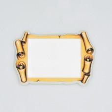 Керамическая заготовка для магнитов под вставку Свиток древний