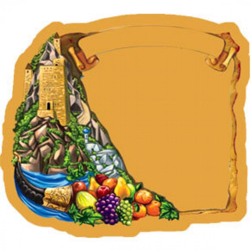 Керамическая заготовка для магнита - Крепость и фрукты
