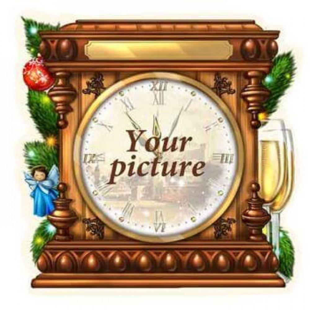 Керамическая заготовка для магнита - Новогодние часы