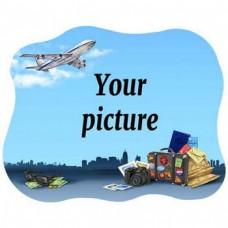 Керамическая заготовка для магнита - Самолет и чемодан