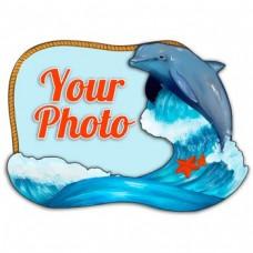 Слойка деревянная Дельфин магнит