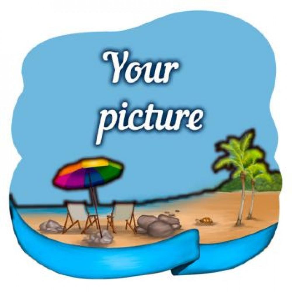 Слойка деревянная Пляж №2 магнит