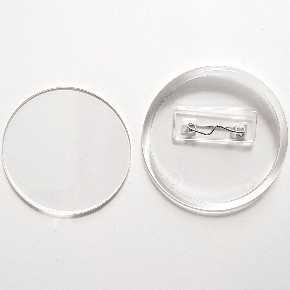 Акриловая заготовка для значка круг 65 мм