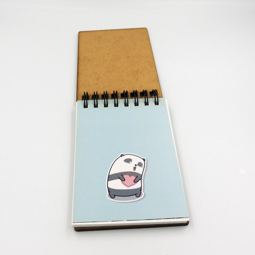 Блокнот с деревянной обложкой под заказ А7
