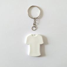 Поликерамический брелок футболка с кольцом под заказ