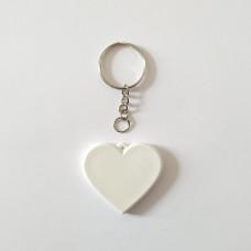 Поликерамический брелок сердце с кольцом под заказ