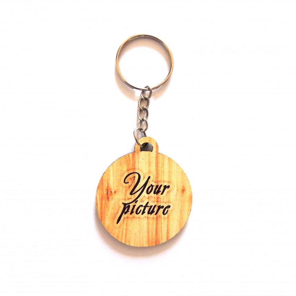 Деревянный брелок с кольцом под заказ
