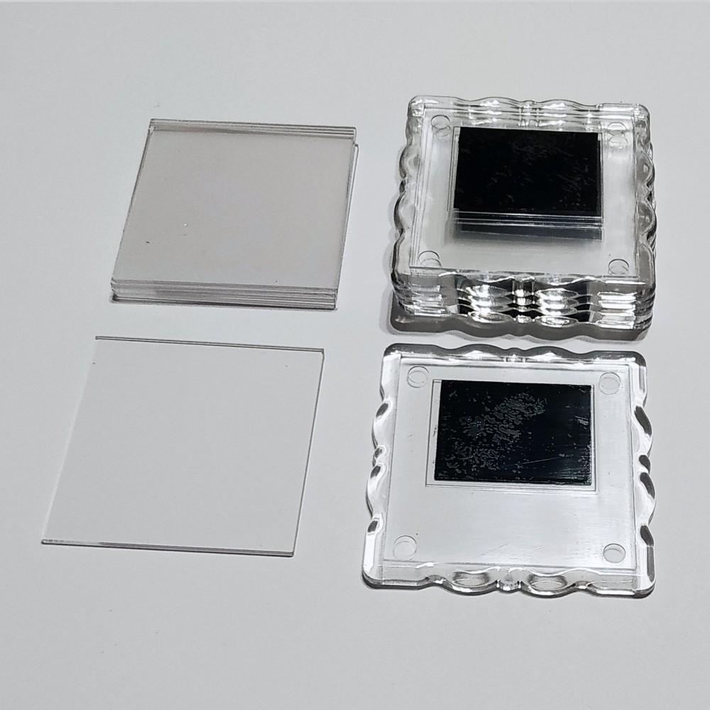 Акриловая заготовка для магнита Фигурная рамка 65*65 мм прозрачная