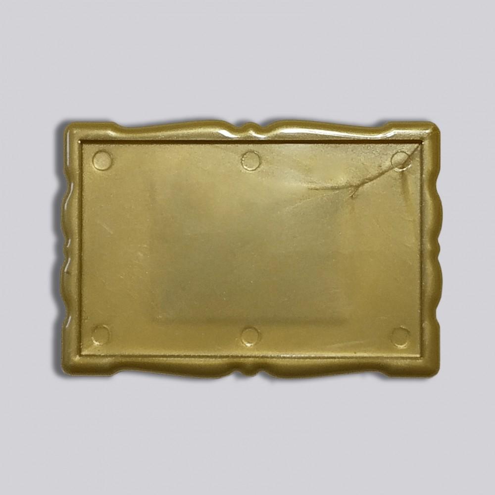 Акриловая заготовка для магнита Фигурная рамка 78*52 мм золотистая