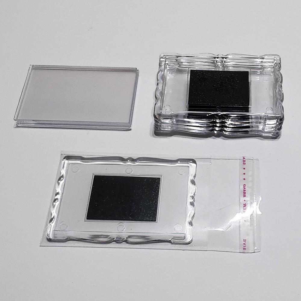 Акриловая заготовка для магнита Фигурная рамка 78*52 мм прозрачная