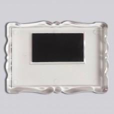Акриловая заготовка для магнита Фигурная рамка 92*65 мм прозрачная