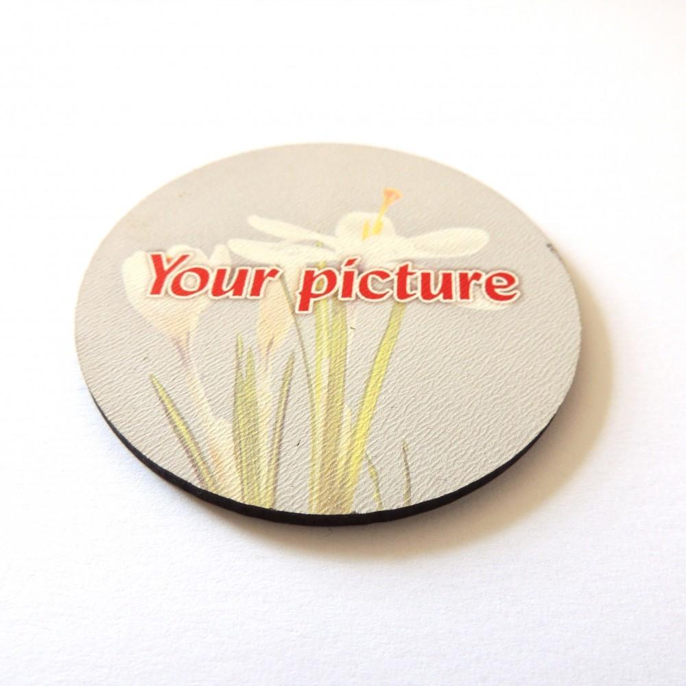 Деревянные магниты с вашим макетом Круг
