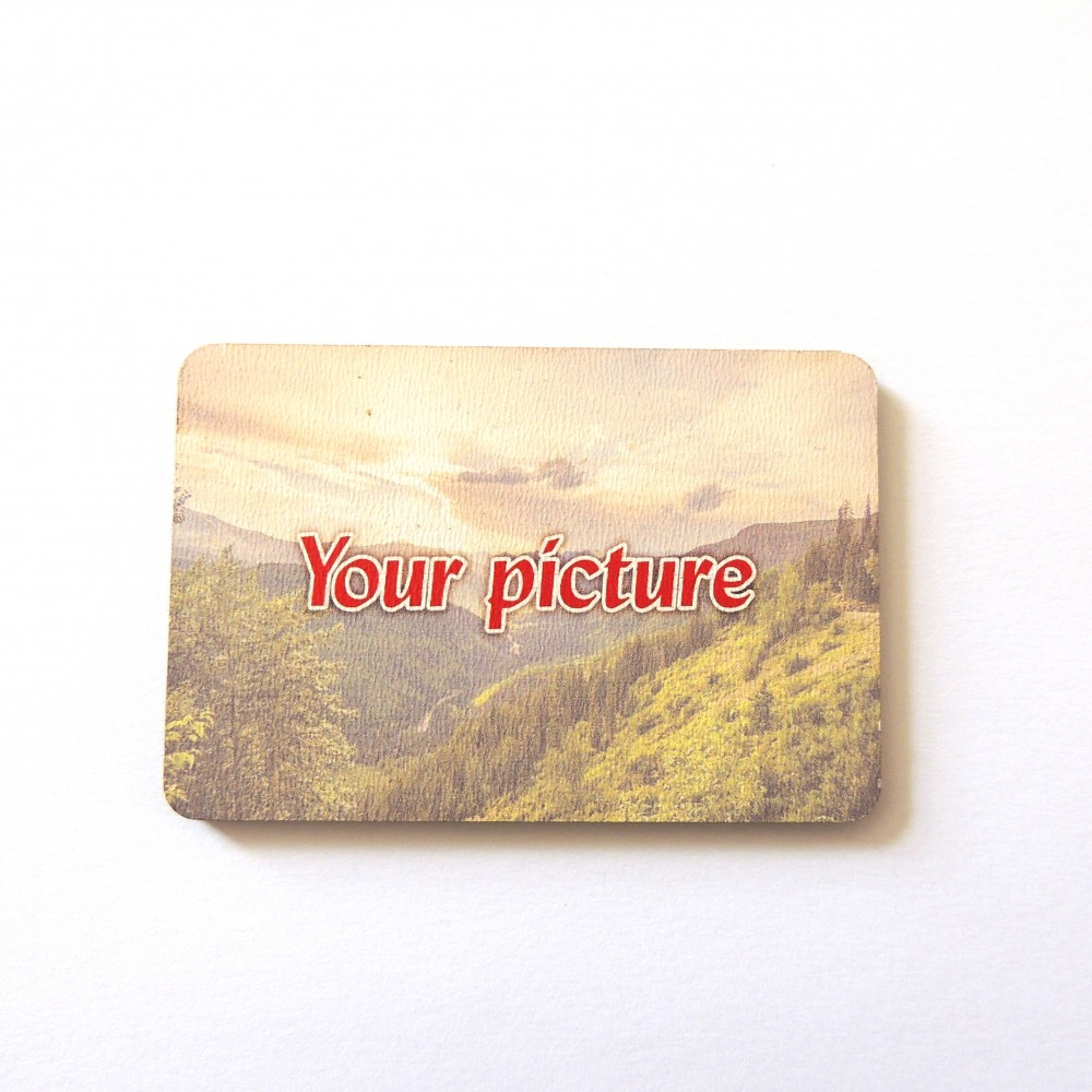 Деревянные магниты с вашим макетом Прямоугольник