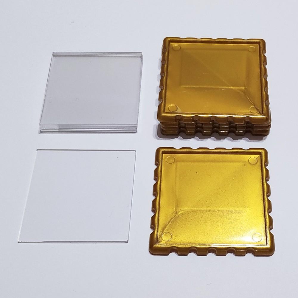 Акриловая заготовка для магнита Марка 65*65 мм золотистая
