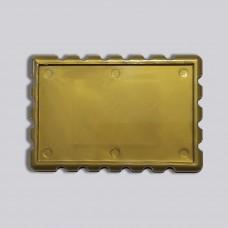 Акриловая заготовка для магнита Марка 78*52 мм золотистая