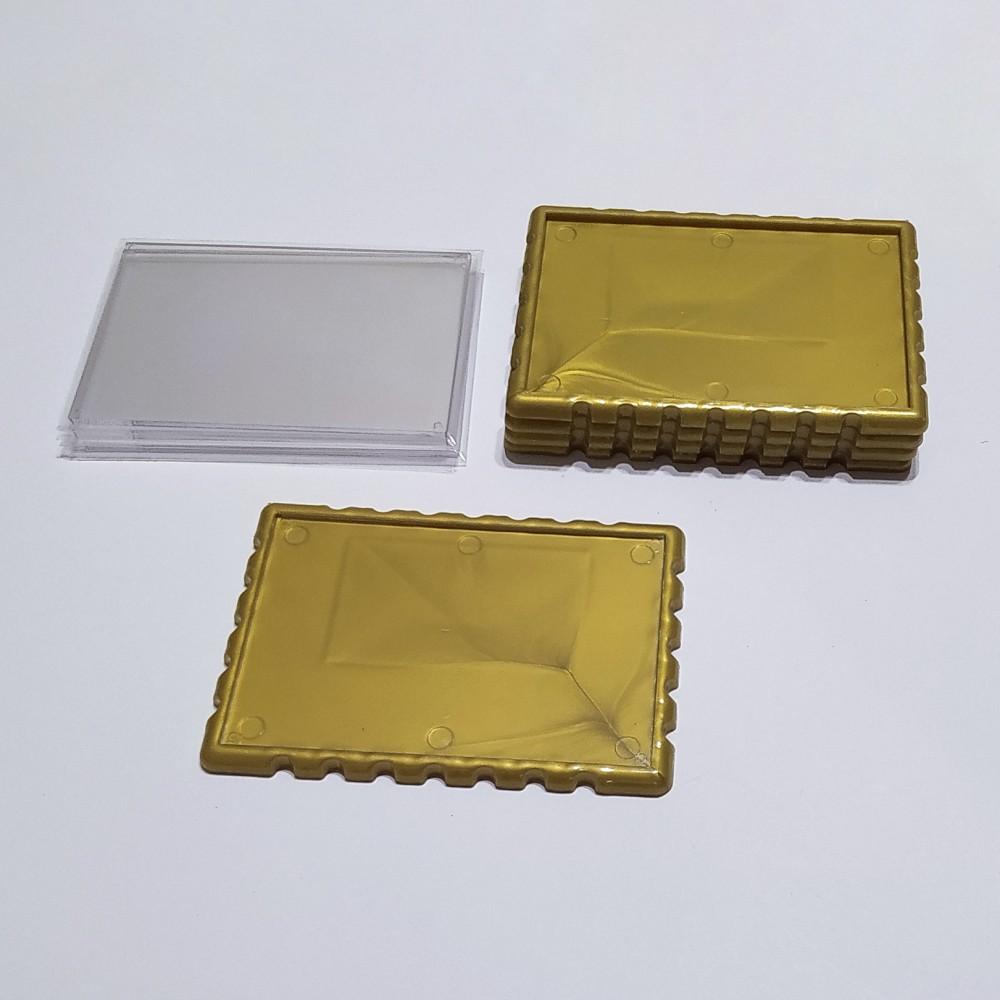 Акриловая заготовка для магнита Марка 92*65 мм золотистая