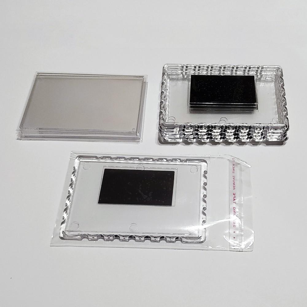 Акриловая заготовка для магнита Марка 92*65 мм прозрачная