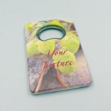 Прямоугольная сувенирная открывалка с магнитом