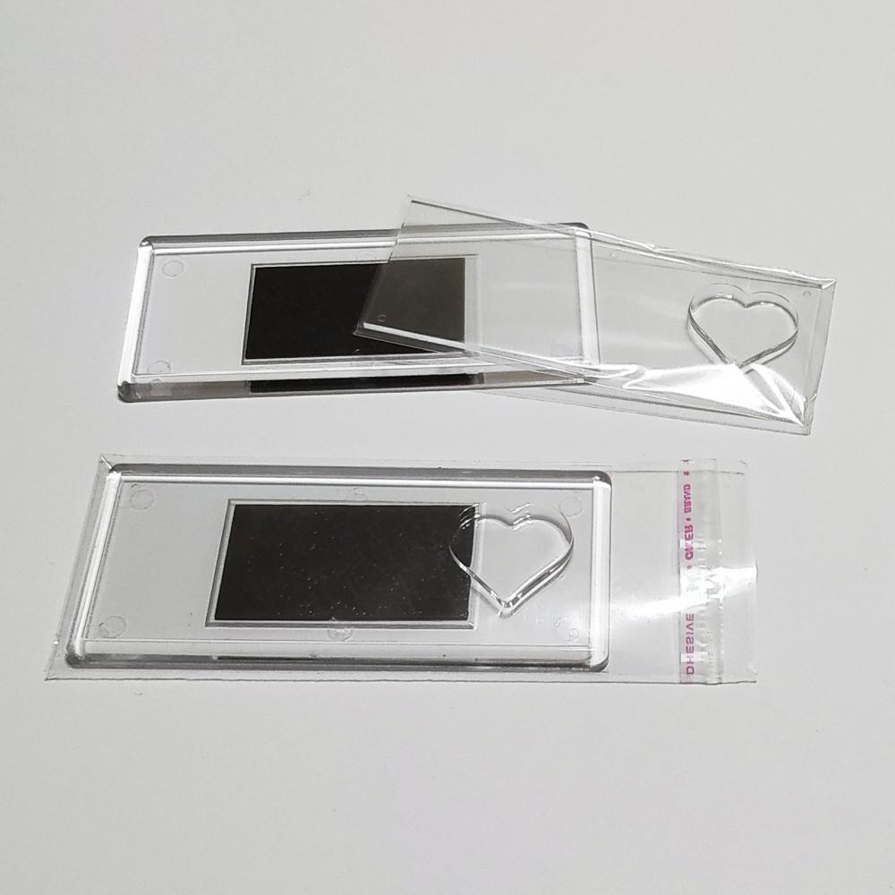 Акриловая заготовка для магнита Панорама Сердце 108*48 мм