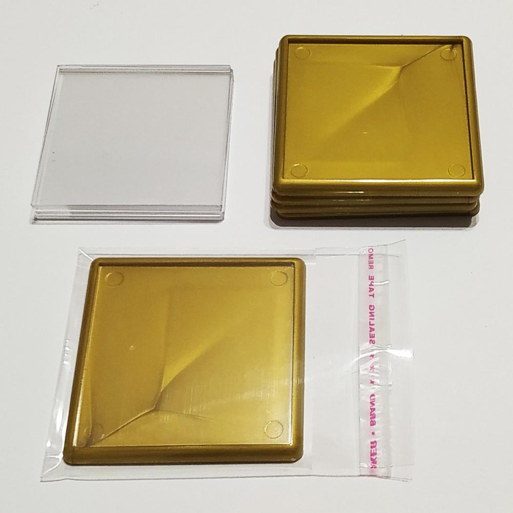 Акриловая заготовка для магнита 65*65 мм стандартная золотистая