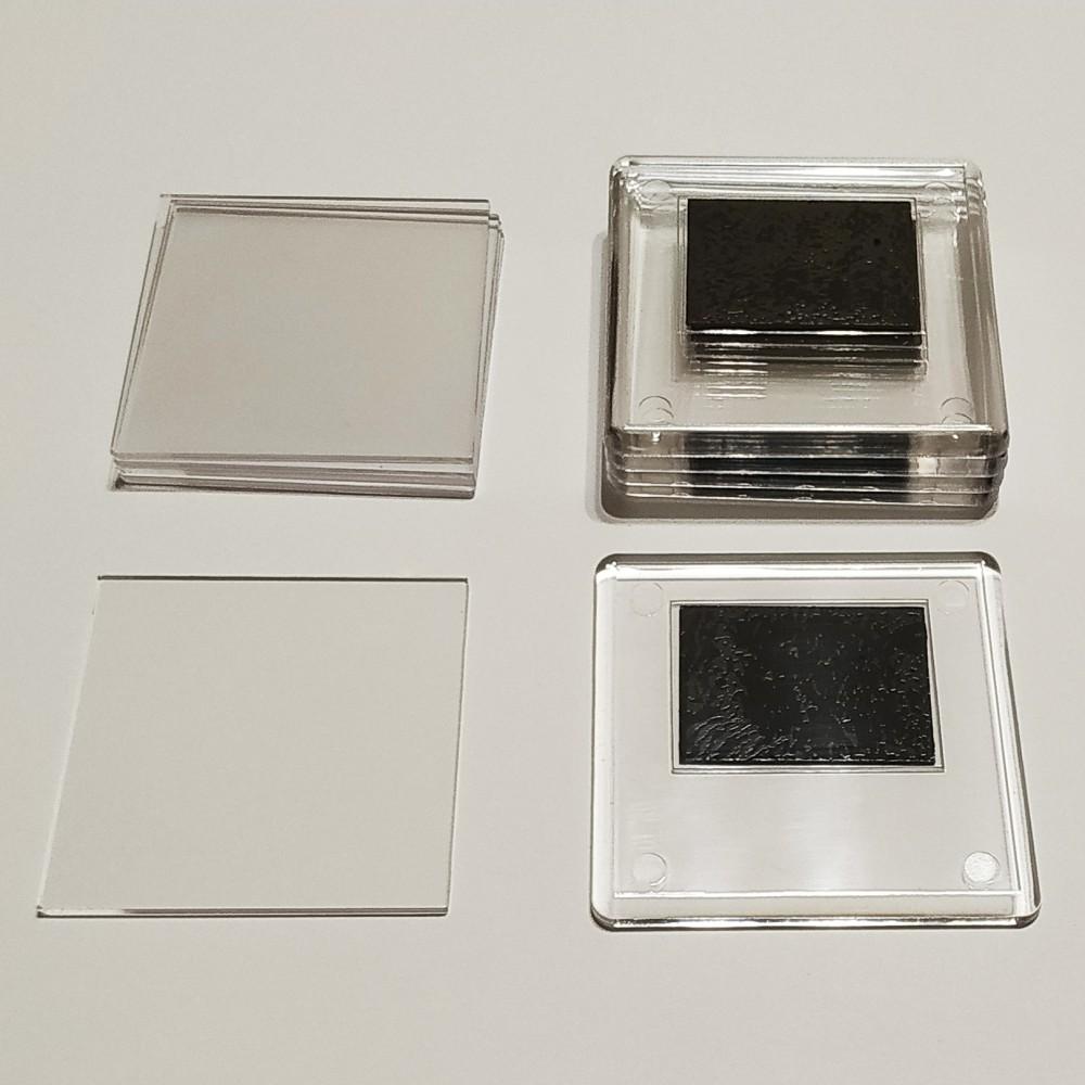 Акриловая заготовка для магнита 65*65 мм стандартная прозрачная