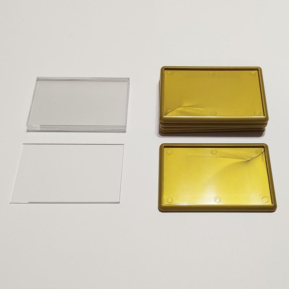 Акриловая заготовка для магнита 78*52 мм стандартная золотистая