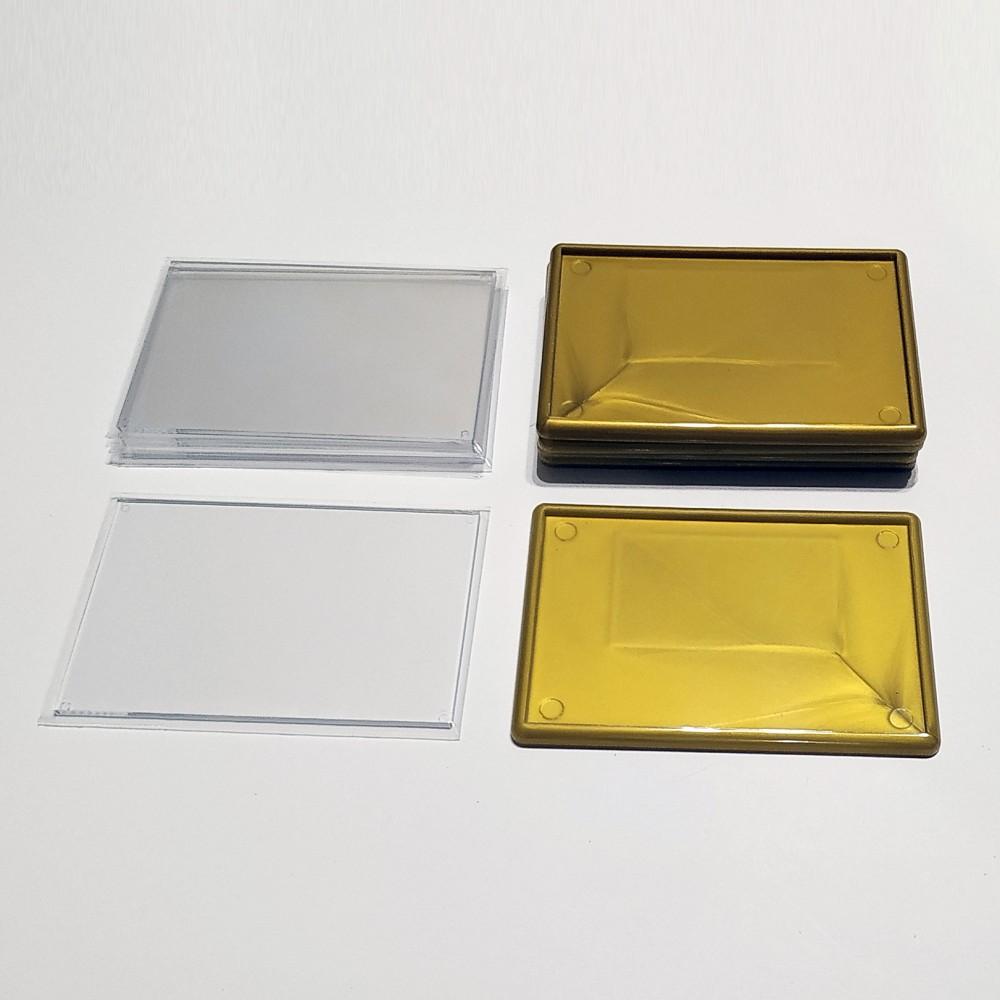 Акриловая заготовка для магнита 92*65 мм стандартная золотистая