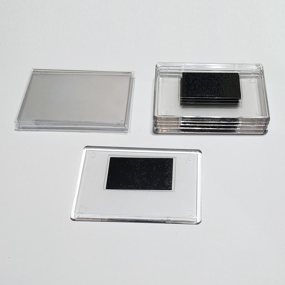 Акриловая заготовка для магнита 92*65 мм стандартная прозрачная