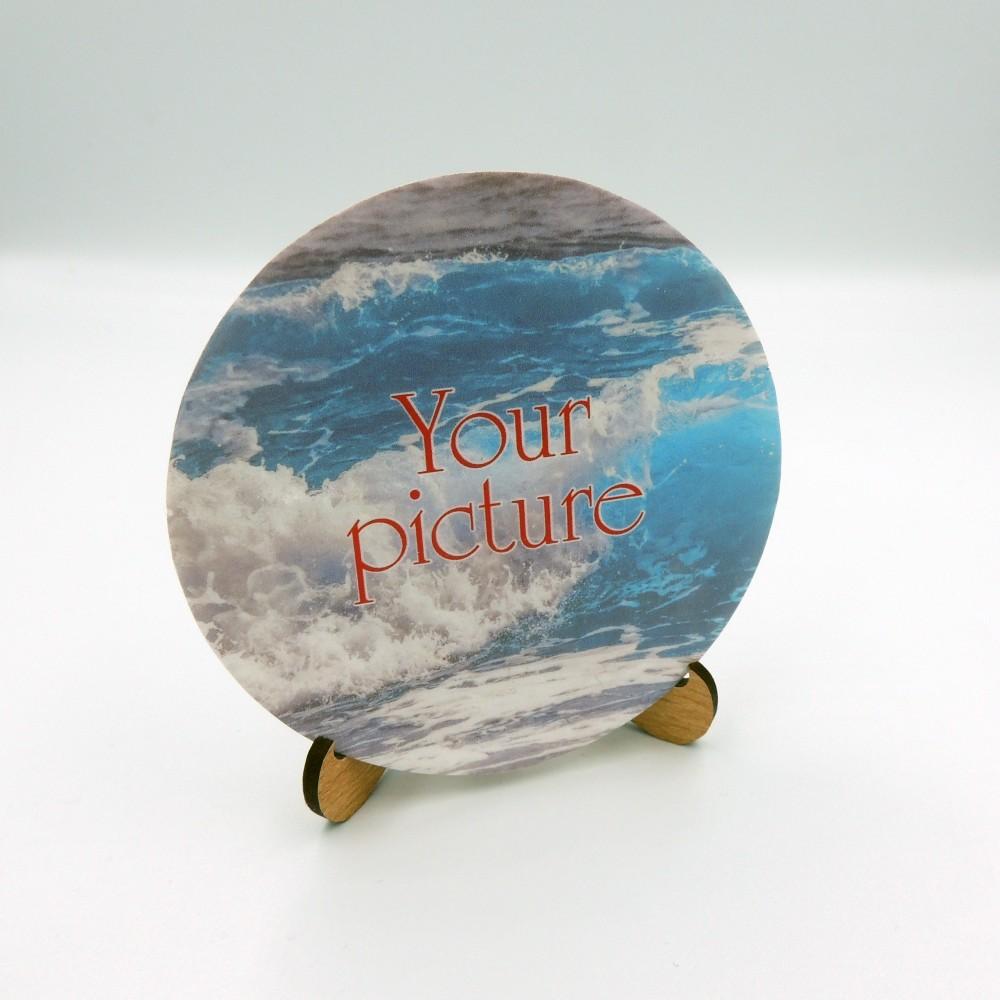 Сувенирная тарелочка диаметром 85 мм с крючком плоская