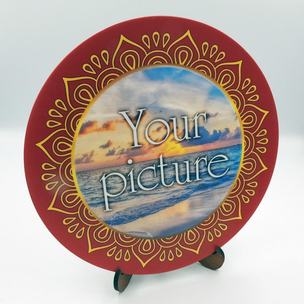 Сувенирная тарелочка диаметром 160 мм с крючком  платформа