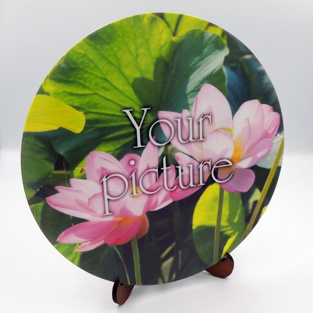 Сувенирная тарелочка диаметром 160  мм с крючком  плоская
