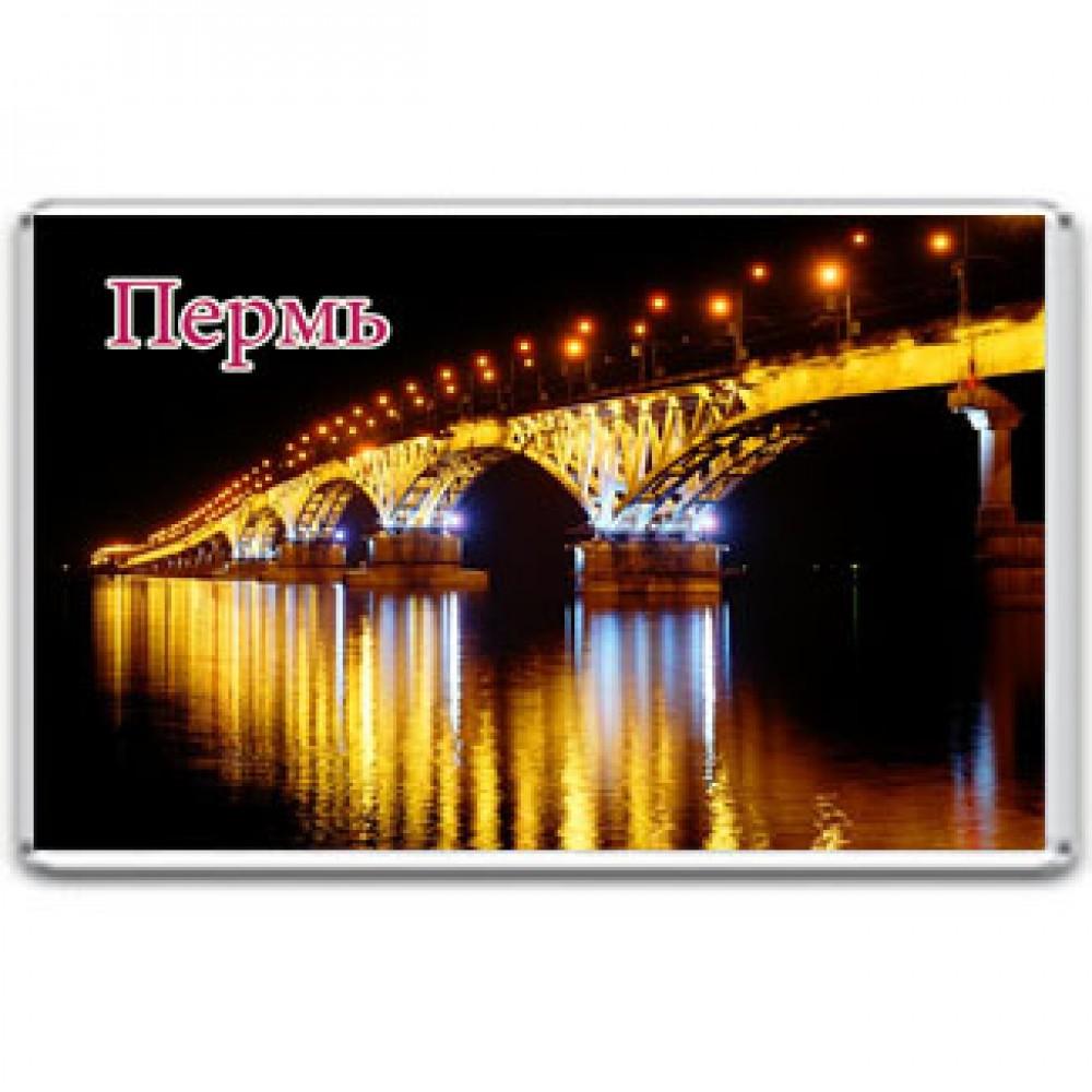 Акриловый магнит Пермь - Красавинский мост