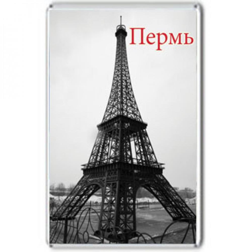 Акриловый магнит Пермь - Эйфелева башня