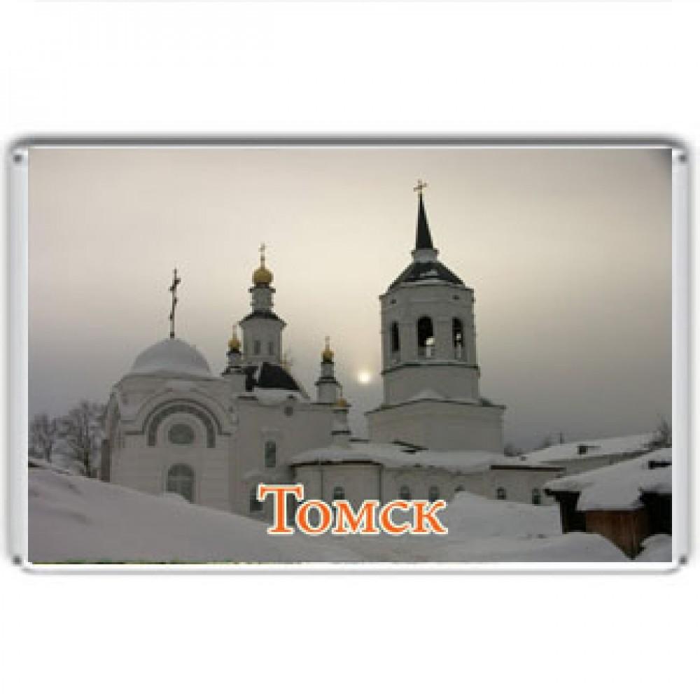 Акриловый магнит Томск -Богородице-Алексеевский монастырь