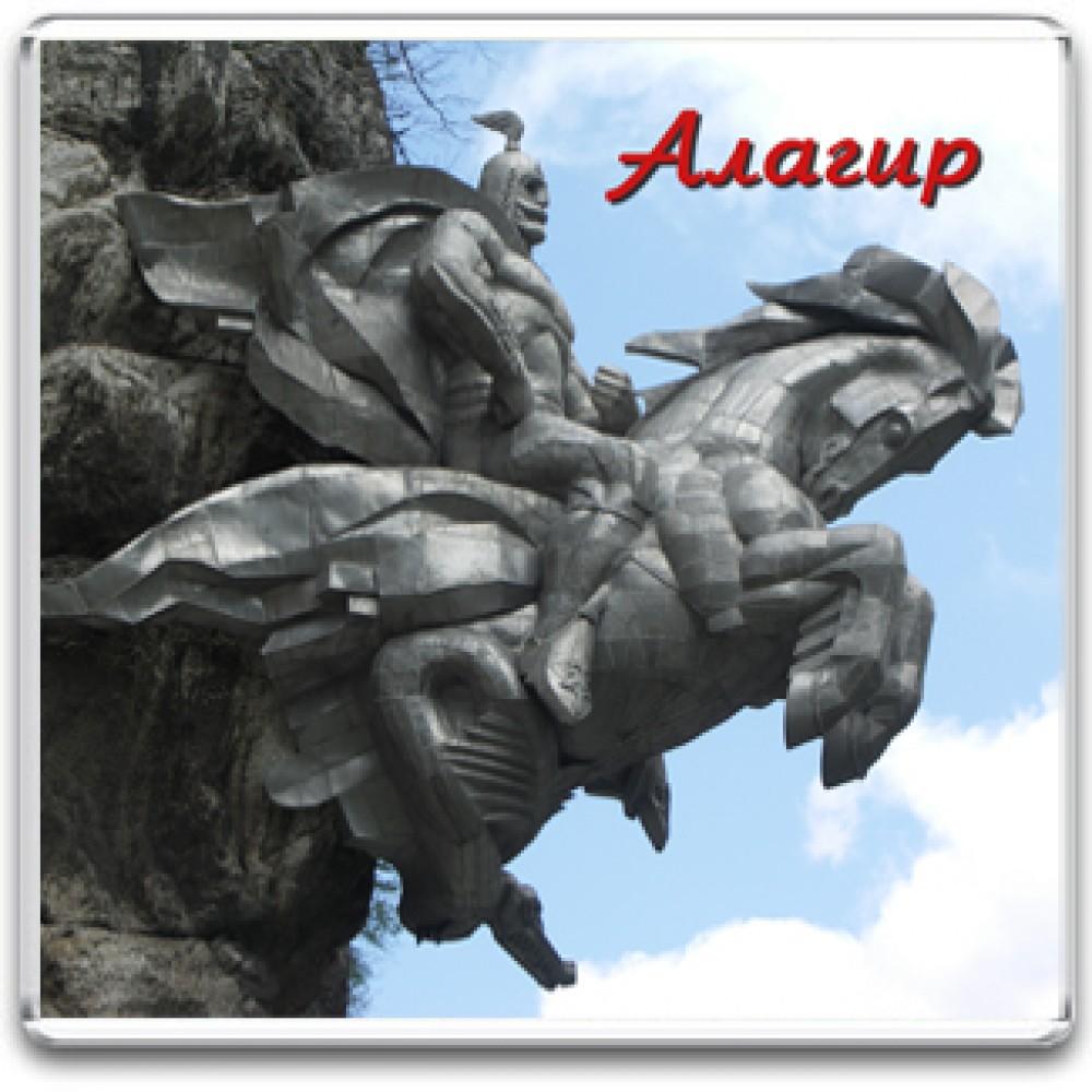 Акриловый магнит Алагир - Памятник Святому Георгию