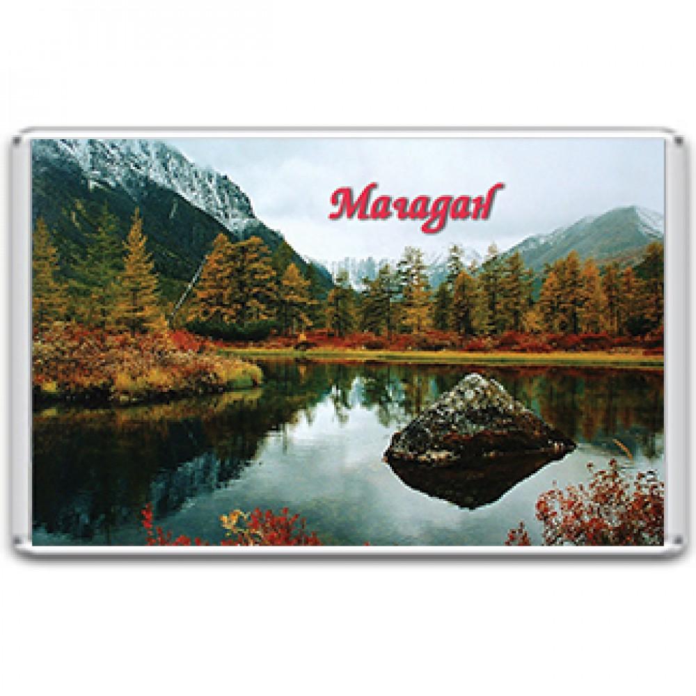 Акриловый магнит Магадан - общий вид