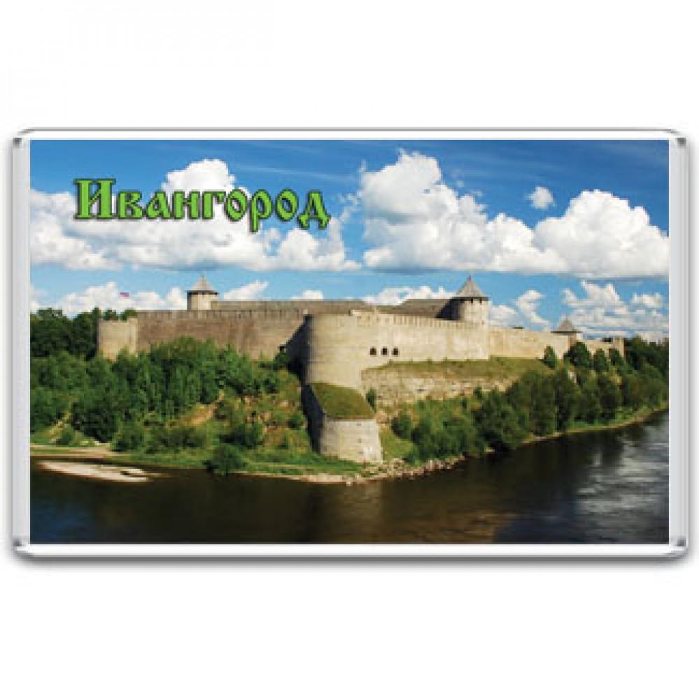 Акриловый магнит Ивангород - Ивангородская крепость