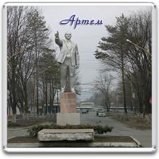 Акриловый магнит Артем - Памятник Ленина