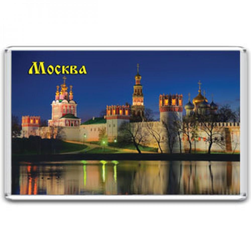 Акриловый магнит Москва - Новодевичий монастырь
