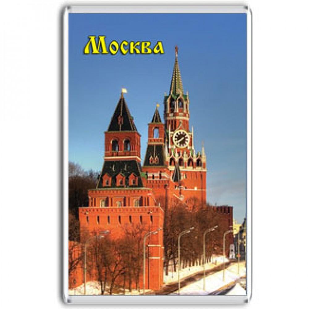 Акриловый магнит Москва - Кремль - зима