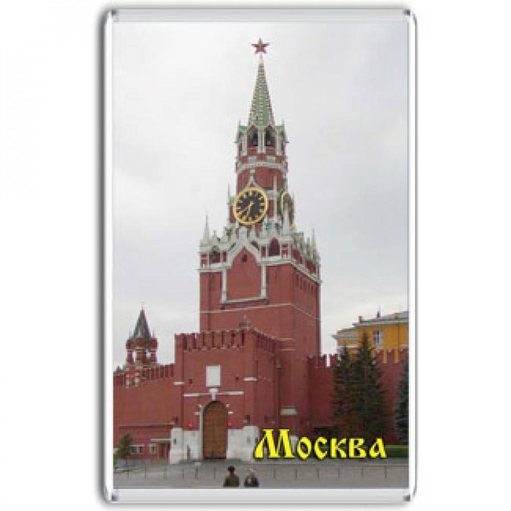 Акриловый магнит Москва - Спасская башня