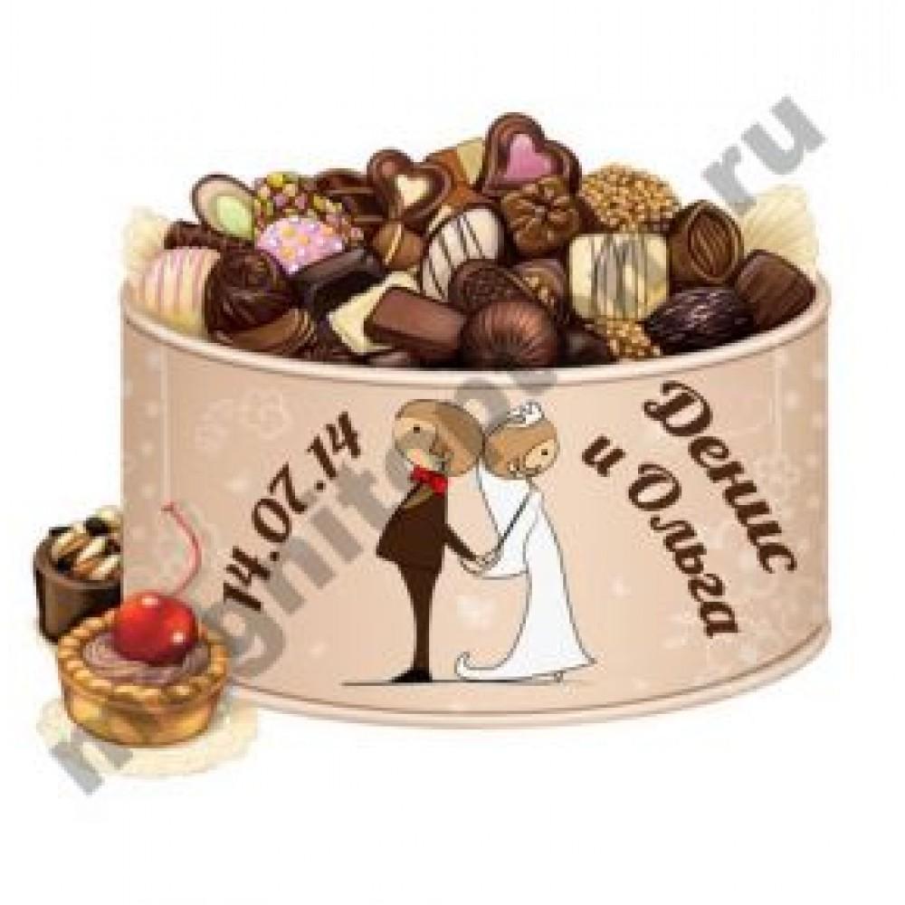 Керамические свадебные магниты. Конфеты