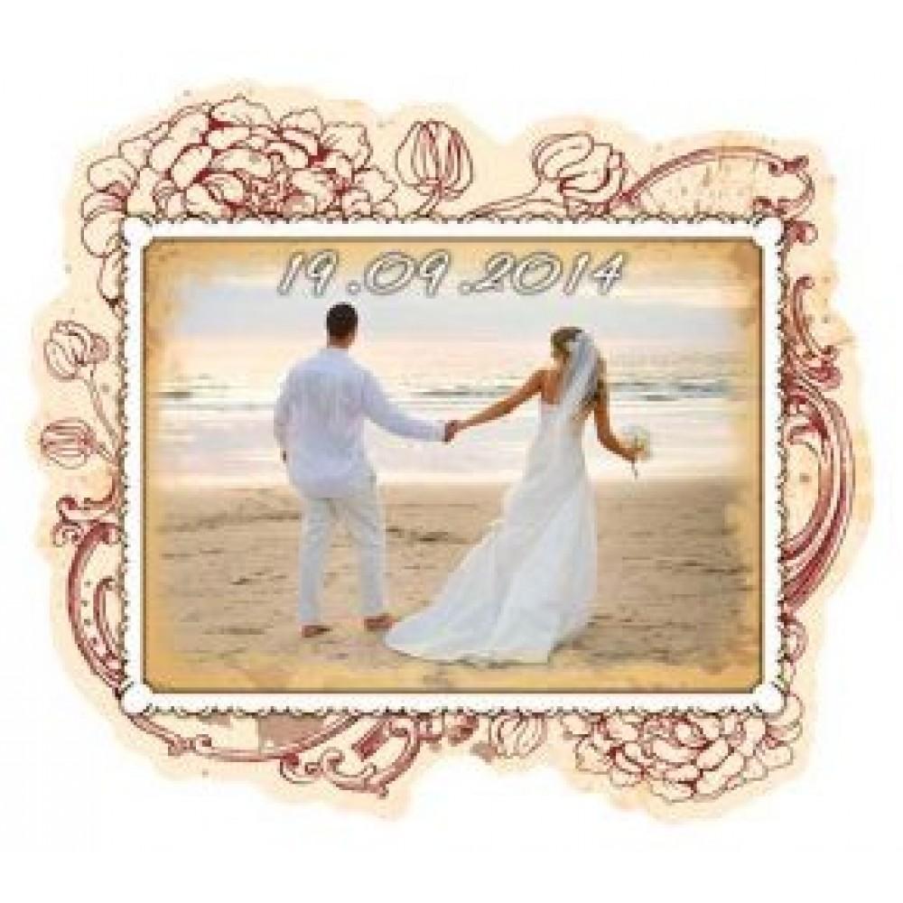 Керамические свадебные магниты. Винтаж