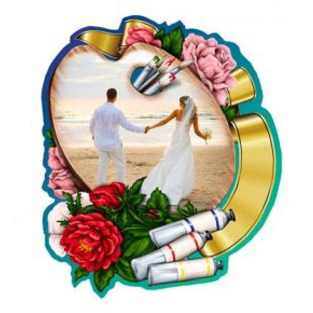 Керамические свадебные магниты.  Краски