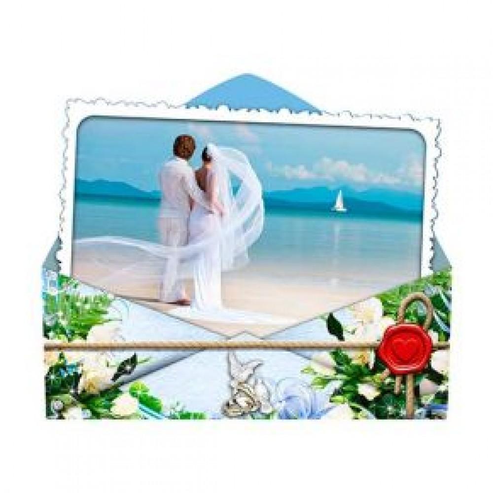Керамические свадебные магниты. Конверт
