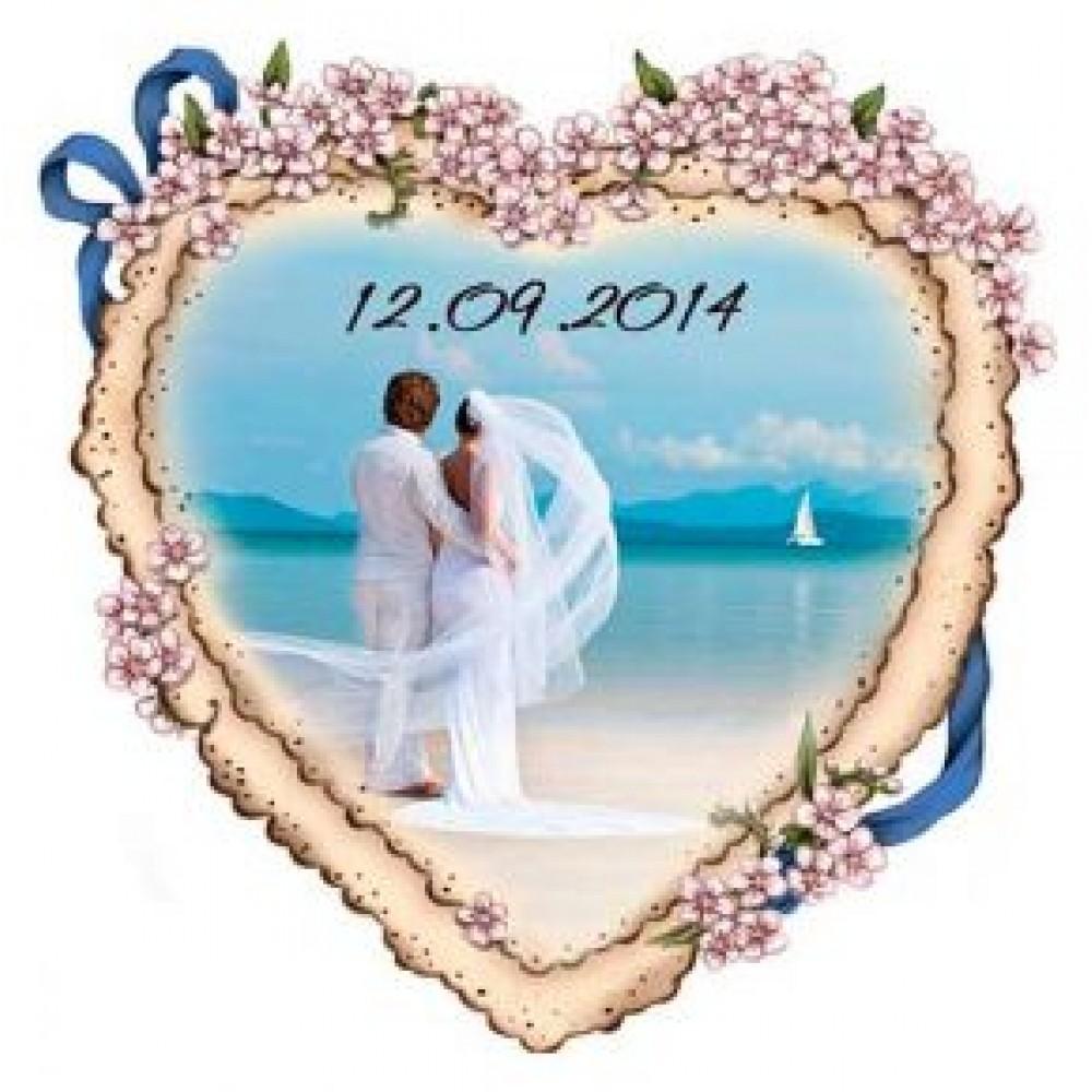 Керамические свадебные магниты. Сердце