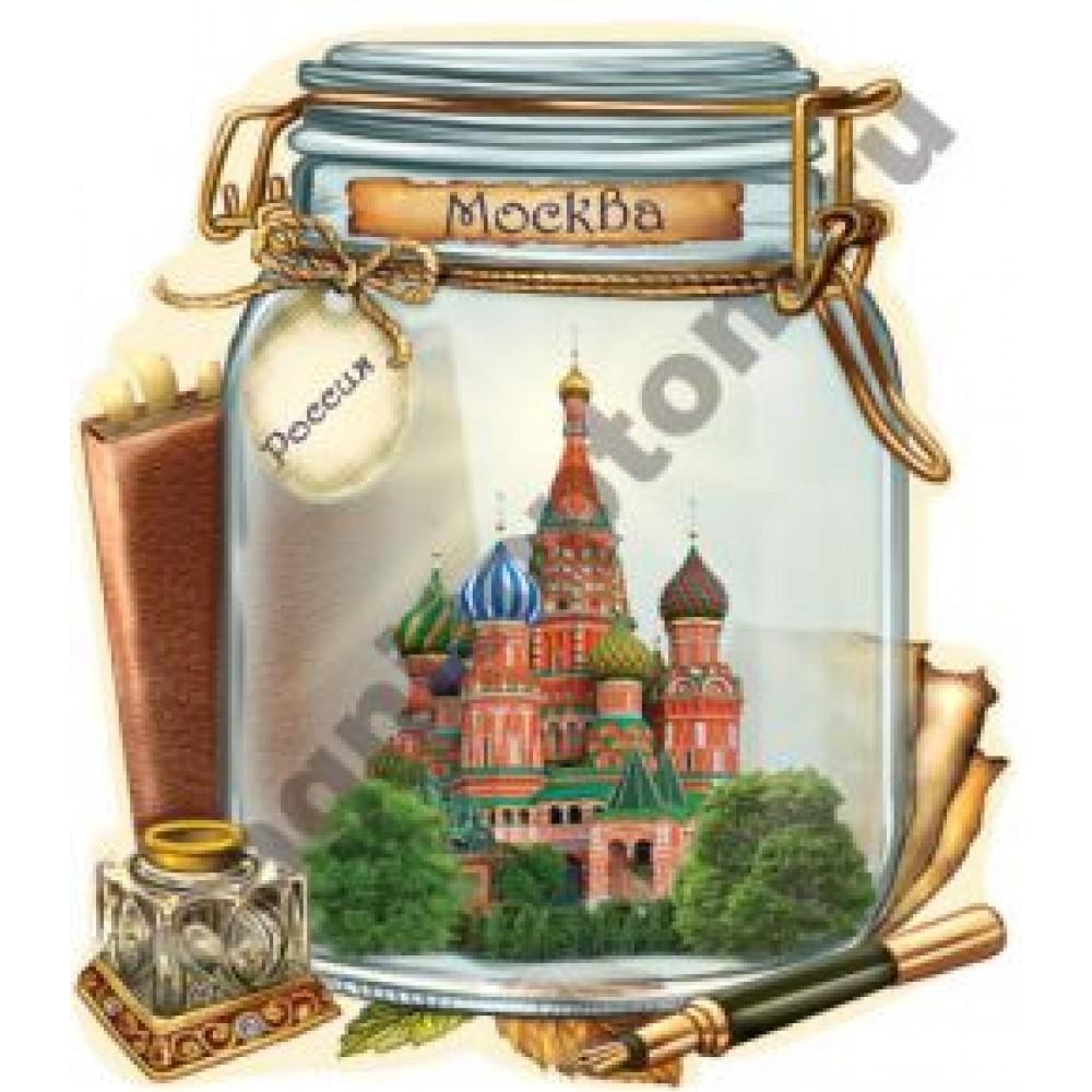 Поликерамические магниты. Банка. Москва